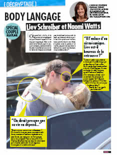 Liev Schreiber et Naomi Watts