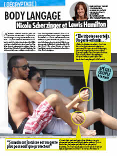 Nicole Scher Zinger et Lewis Hamilton